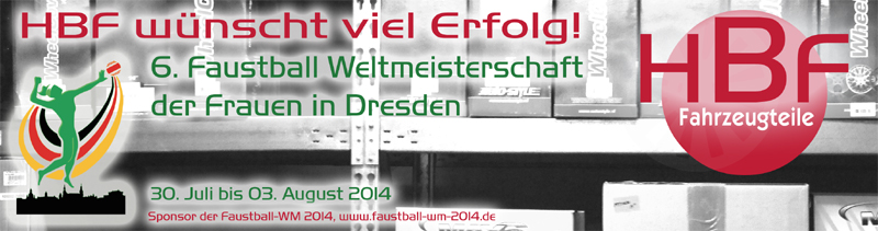 HBF Faustball WM Banner